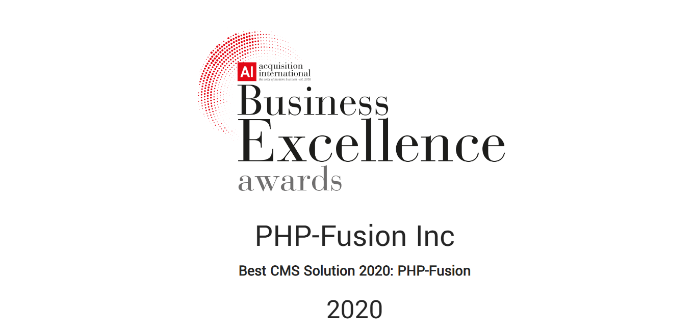 PHPFusion - The Best CMS Solution 2020